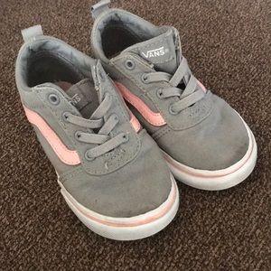 Toddler girl gray and pink Vans